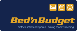 Logo Bed'nBudget Hostel Slogan
